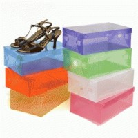Transparant shoes box - kotak sepatu transparan warna-warni SJ0037