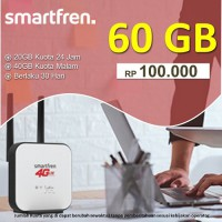 Smartfren Data Super 4G Kuota 60GB 30Hari