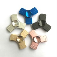 Fidget Spinner Metal Hand Toys Mainan Tri-Spinner EDC Ceramic Ball Focus Games