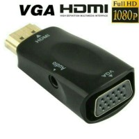 Adapter Dongle HDMI to VGA - Converter HDMI Male to VGA with Audio Full HD