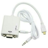 Kabel Converter Micro HDMI to VGA with Audio