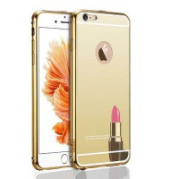 Case iPhone 5S Bumper Metal Back Case Sliding - GOLD