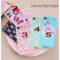 Case Jelly Retro Candy Flamingo Iphone 5, 6, 6 Plus,7, 7 Plus, Xiaomi Redmi 3 Pro / S, Note 3,