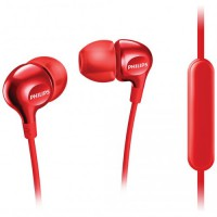 Philips In Ear Headphone with Mic SHE3705 RD - Merah