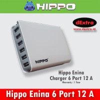 Hippo Enina Charger 6 Port 12 A Smart IC, Full Auto Detect