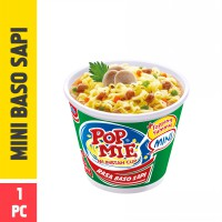 Pop Mie Mini Kuah Rasa Baso 1pc 38gr