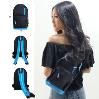 HIGH QUALITY FABRIC SLING BACKPACK 2 IN 1