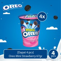 [Dapat 4 pcs] Oreo Mini Strawberry 67gr