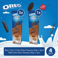 [Buy 3 Get 1] Oreo Thins Tiramisu 95gr x 3pcs + FREE 1pcs