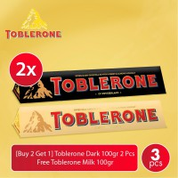 [Buy 2 Get 1] Toblerone Dark 100gr 2 Pcs - Free Toblerone Milk 100gr