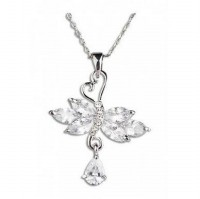 AXORA Necklace Real Platinum Plated TN0127
