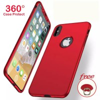 CASE 360 Full Protect IPhone 6 6S Hardcase Tempered Cover Logo Hole