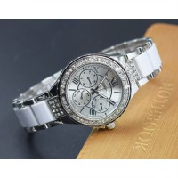 Geneva Female Fashion Quartz Analog Stainless Steel Watch - PL-202