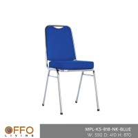 Offo Living - OVAL BANQUET CHAIR BLUE