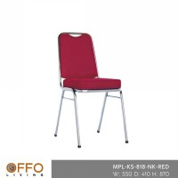 Offo Living - OVAL BANQUET CHAIR RED