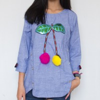 CHERIES RIBBON TOP-ATPJ18072 (NEW COLLECTION)