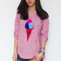 ICE CREAM RIBBON TOP-ATPJ18073 (NEW COLLECTION)