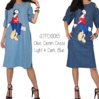 OLIVE DENIM DRESS-ATPD18083 (NEW COLLECTION)