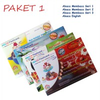 Paket 1 Abaca Flash Card Seri Membaca dan English