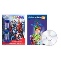 Disney Fun to Read Level 2 - Adventure in Never Land (피터팬) / Marvel Avengers Assemble Copy Colouring