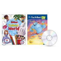Disney Fun to Read Level 1 - As You Wish (알라딘) / Disney Junior Colour My World