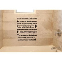 Stiker Sunnah Using Bathroom Kamar Mandi Toilet Wall Sticker Dekorasi