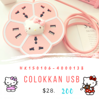 Colokkan dan usb Hello kitty