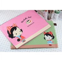 bta180 tas file A4 cute cartoon honey snow girl canvas zipper bag