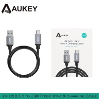 AUKEY CABLE KABEL USB TYPE-C TO USB 3.0 with Braided Nylon