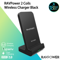 RAVPower RP-PC068 2 Coils Wireless Charger Black(iPhone 5W & Samsung 10W)