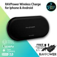 RAVPower RP-PC067  5W for iphone 10W for Android 4 coils wireless charger  black EU