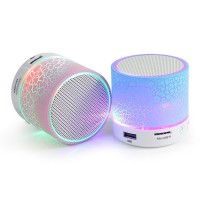Speaker Bluetooth S10 Mini Crack Glow Light v4.0 Super Bass
