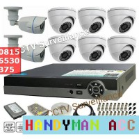 Paket CCTV Online 8 Channel Full HD 1080/2MP + HDD 1TB Lengkap / Murah