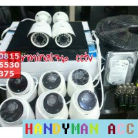 PAKET CCTV 8 CHANNEL AHD 2MP LENGKAP TINGGAL PASANG