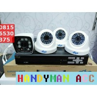 Paket Cctv 4ch AHD 2 MP + HDD 500GB
