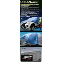 URBAN DELUXE Cover Body Mobil 2 Lapis Kualitas Tinggi - LARGE MPV/SUV - ALL SILVER