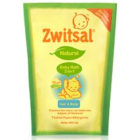 ZWITSAL NATURAL BABY BATH 2IN1 - REFILL 450ML