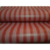 WALLPAPER STICKER 10m Motif Garis Garis Merah