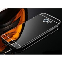 Case Samsung S7 Edge Aluminium Metal Bumper Sliding Mirror (Dark Grey)