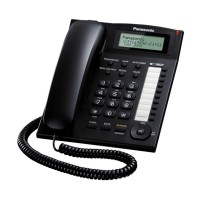Panasonic Single Line Telephone KX-TS840 Telepon Kabel [ Speakerphone ] - Black