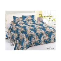 Disperse Bold Star Set Sprei dan Bed Cover Ukuran Full