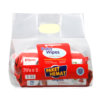 Pigeon Baby Wipes Chamomile & Rosehip Isi 70 'Sheets P2