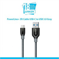 Kabel Charger PowerLine+ 3ft Cable USB-C to USB 3.0 A8168 Gray