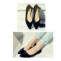 Sh Flat Shoes 0283/0287 Hitam-Gold/Hitam,Abu Suede