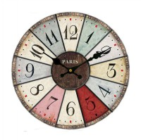 Monkizz Vivian Wooden Wall Clock - Jam Dinding Paris series