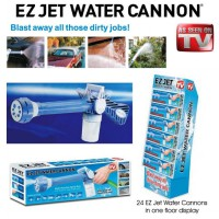 Ez Jet Water Cannon - Pressure Water Jet Gun with 8 Built-In Spray Patterns and Detergent Dispenser