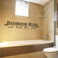 Wall Stiker Bathroom Rules Sticker Dekorasi Dinding Toilet Kamar Mandi