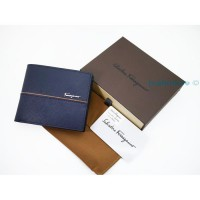 New Dompet Pria Import Branded Sal_Ferragamo Dk307 Blue |Zr4021