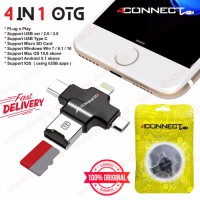 OTG 4in1 4Connect Card Reader Support for Type C - Micro - IOS - USB ORIGINAL