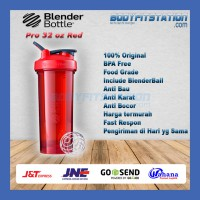 Shaker Blender Bottle Pro 32 oz Red - air asli botol besar blenderbottle import minum ml ori origi